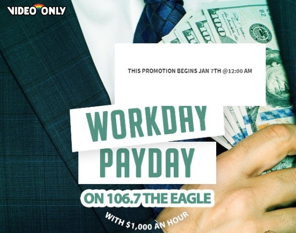 106 7 The Eagle 2019 Q1 Cash Sweepstakes - Win $1000 Cash