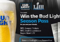 Bud Light Season Pass And Super Ticket Sweepstakes