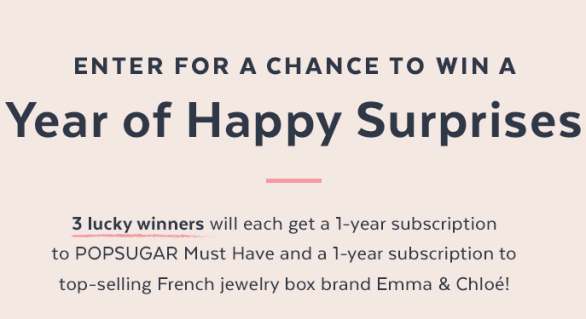 Must Have And Emma And Chloe Sweepstakes