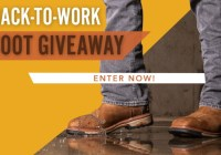 One Country Back To Work Boot Giveaway