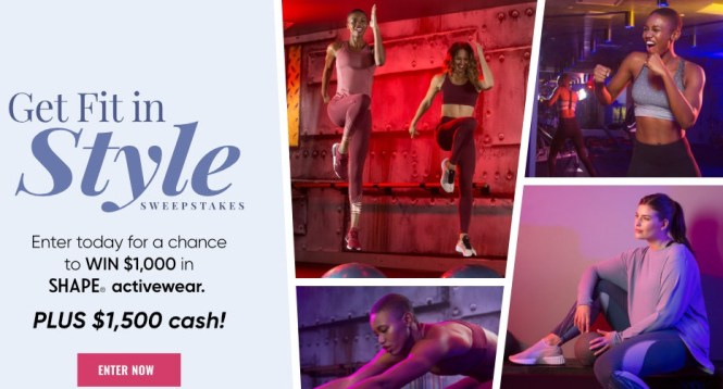 Shape Magazine Get Fit In Style Sweepstakes