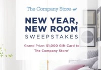 The Company Store New Year New Room Sweepstakes