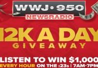 WWJ Newsradio 950 12K A Day Giveaway