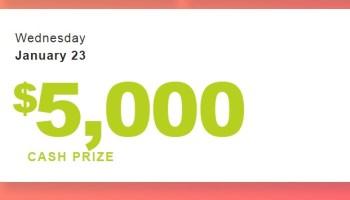 PrizeGrab com $5,000 Cash Giveaway - Win $5,000 Cash