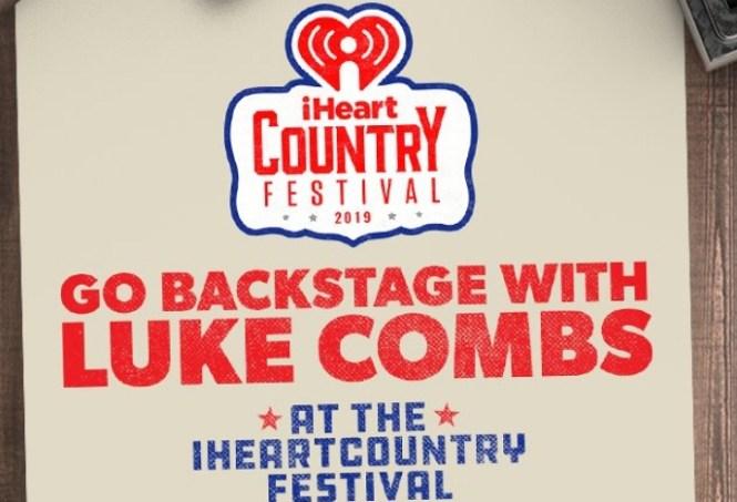 iHeartRadio Go Backstage With Luke Combs Sweepstakes