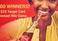 Coca Cola $25 Target eGift Card Instant Win Game