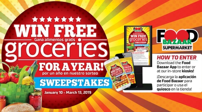 Food Bazaar Groceries For A Year Sweepstakes