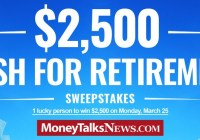 Money Talks News $2500 Cash For Retirement Sweepstakes