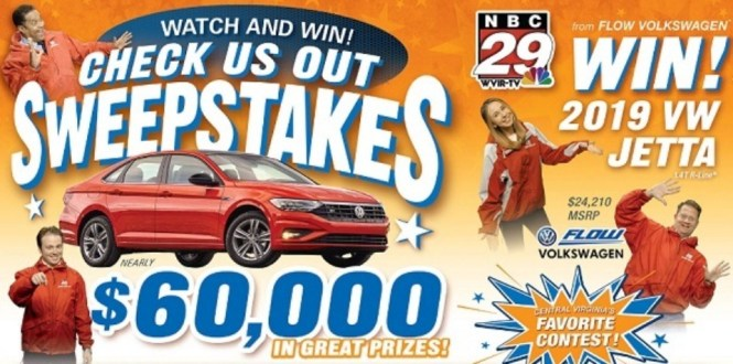 NBC 29 Check Us Out Sweepstakes