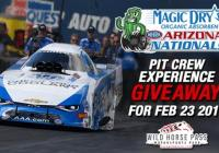 NHRA Pit Crew Experience Giveaway