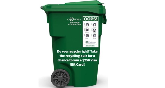 WRIC CVWMA Recycling Sweepstakes