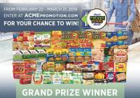 2019 ACME March Frozen Food Month Sweepstakes