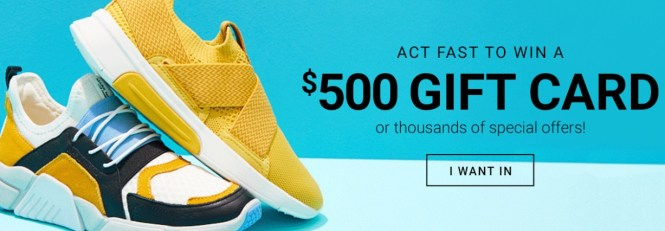 Designer Sneaker Warehouse Sweepstakes