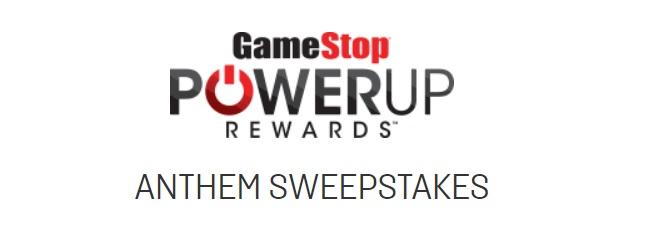 GameStop PowerUp Rewards Anthem Sweepstakes