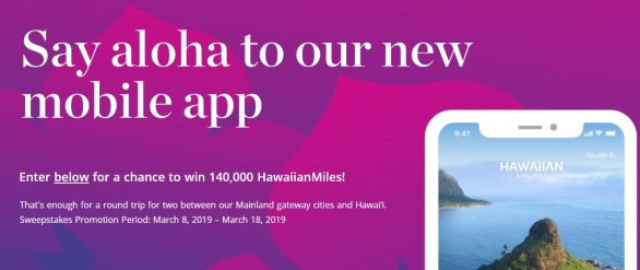 Hawaiian Airlines Mobile App Sweepstakes - Win Grand Prize