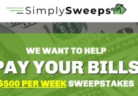 SimplySweeps Helps Pay Your Bills Sweepstakes