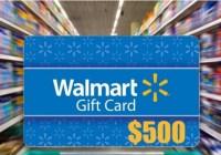 $500 Walmart Gift Card Sweepstakes