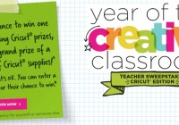 Year Of Creative Classroom Cricut Sweepstakes