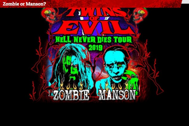 Zombie Or Manson Quiz Sweepstakes