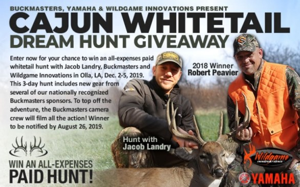 Buckmasters Cajun Whitetail Dream Hunt Giveaway