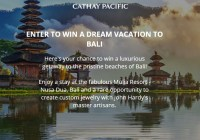 Cathay Pacific Destination Bali Sweepstakes