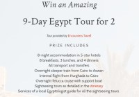 Discover Egypt Sweepstakes