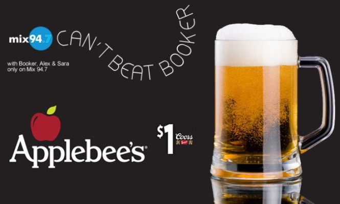 Mix 94.7 Cant Beat Booker Applebees Contest