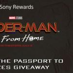 Sony Rewards Spider-Man Passport To Prizes Giveaway