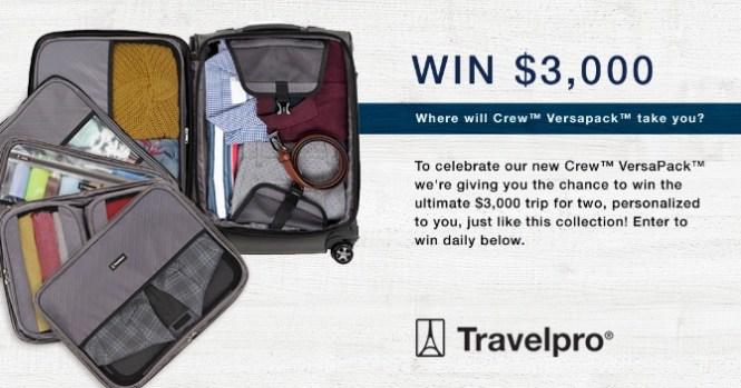 Travelpro VersaPack Sweepstakes