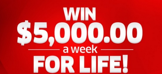 PCH $5000 A-Week-For-Life Giveaway