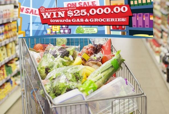 PCH Com $25000 Gas Groceries Giveaway - Win $25000 Cash