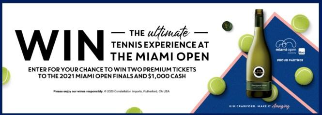 Kim Crawford Miami Open Sweepstakes