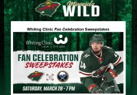 Minnesota Wild Whiting Clinic Fan Celebration Sweepstakes