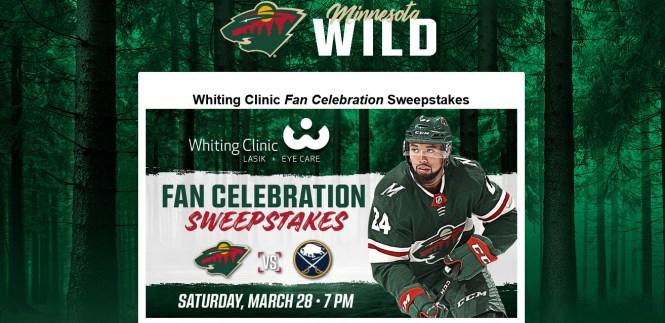 Minnesota Wild Whiting Clinic Fan Celebration Sweepstakes