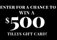 Tillys $500 Gift Card Sweepstakes