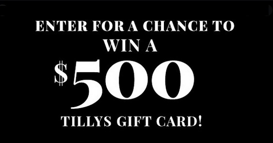 Tillys Free Gift Card Giveaway