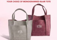 Lillian Vernon Monogrammed Blair Tote Giveaway