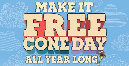 Make It Free Cone Day All Year Long Sweepstakes