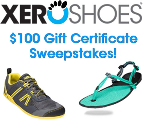 $100 Xero Shoes Gift Certificate Giveaway