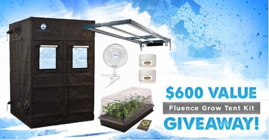 East Coast Hydro Fluence Grow Tent Kit Giveaway