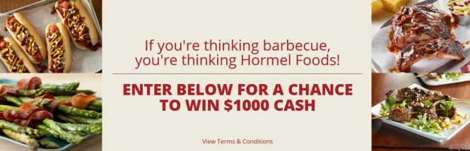 Hormel Foods Summer Grilling Sweepstakes