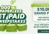 Credit One Bank Go Paperless, Get Paid Sweepstakes