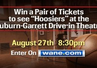 Hoosiers At The Auburn-Garrett Drive-in Sweepstakes