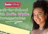Radio Disney Back To School With Sofia Wylie Sweepstakes