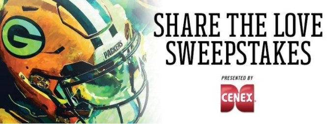 Packers, Share The Love Sweepstakes