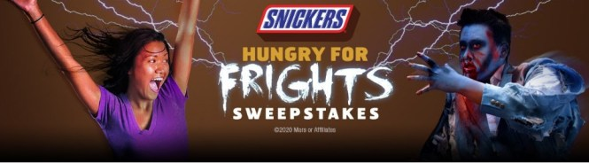Six Flags Theme Parks Six Flags Snickers Hungry For Frights Sweepstakes