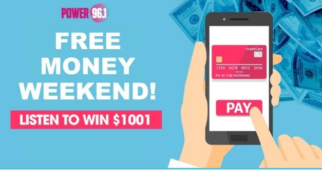 iHeartMedia And Entertainment Free Money Weekend Sweepstakes