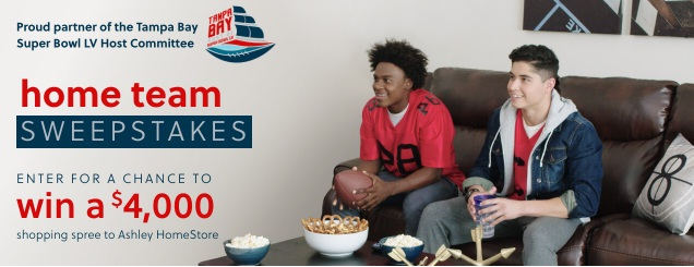 Ashley Home Stores Home Team Sweepstakes