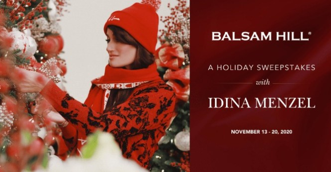 Balsam Hill And Idina Menzel Holiday Sweepstakes