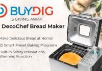 Beach Trading Co. Buydig Deco Gear Breadmaker Giveaway